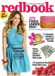 Redbook's newly redesigned magazine, April 2013 issue
